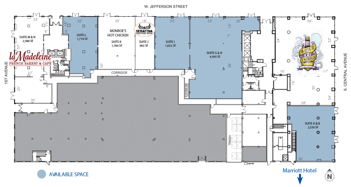 Luhrs City Center retail map